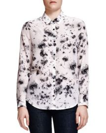 The Kooples Dandelion-Print Silk Shirt at Bloomingdales