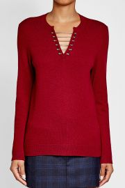 The Kooples Embellished Wool Pullover at Stylebop
