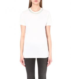 The Kooples Embellished neck t-shirt at Selfridges