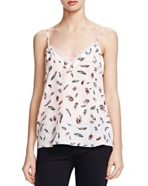 The Kooples Feather Print Silk Tank Top at Bloomingdales