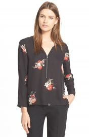 The Kooples Floral Print Crpe de Chine Blouse at Nordstrom