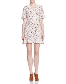 The Kooples Flutter Sleeve Printed Dress at Bloomingdales