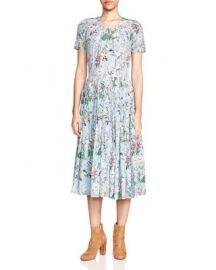 The Kooples Folkloric Print Silk Dress at Bloomingdales