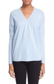 The Kooples Half Zip Wool and Cashmere Sweater at Nordstrom