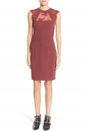 The Kooples Lace   Crepe Sheath Dress at Nordstrom