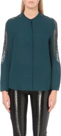 The Kooples Lace Detail Chiffon Shirt at Selfridges