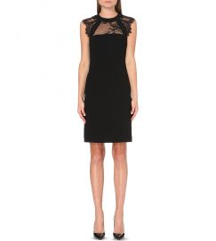 The Kooples Lace Detail Dress Black at Bloomingdales