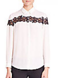 The Kooples Lace-Detail Shirt at Saks Fifth Avenue