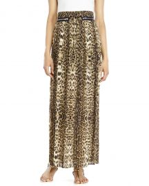 The Kooples Leopard Accordion Maxi Skirt at Century 21