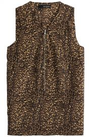 The Kooples Leopard Print Silk Top at Stylebop