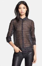 The Kooples Print Cotton Blend Shirt at Nordstrom