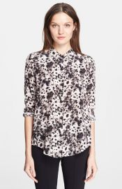 The Kooples Print Silk Blouse at Nordstrom
