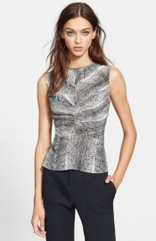 The Kooples Python Print Silk Top at Nordstrom