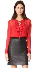 The Kooples Ruffle Front Blouse at Shopbop