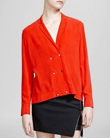 The Kooples Shirt - Silk Crepe de Chine at Bloomingdales