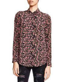 The Kooples Silk Forget-Me-Not Print Shirt at Bloomingdales