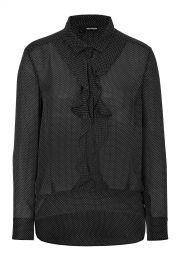 The Kooples Silk Polka Dot Blouse at Stylebop