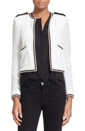 The Kooples Summer Cotton Blend Knit Jacket at Nordstrom