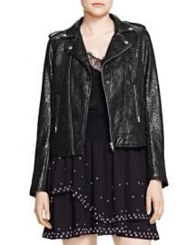The Kooples Waxed Lace Moto Jacket at Bloomingdales