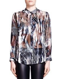 The Kooples Zebra Burnout Print Shirt at Bloomingdales