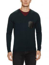 The Kooples leather pocket sweater at Nordstrom Rack
