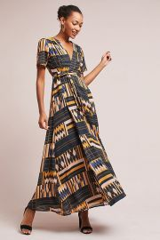 The Odells Macie Wrap Maxi Dress at Anthropologie