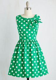 The Pennsylvania Polka Dress in Shamrock Dots at ModCloth
