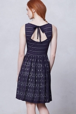 The mothers blue dress from Anthropologie at Anthropologie