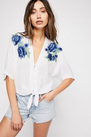Thea Rose Embroidered Top by Rails at Free People