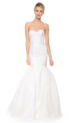 Theia Faith Strapless Tulle Mermaid Gown at Shopbop