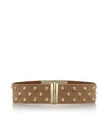 Theophile Suede Crystal Stud Belt at Tory Burch