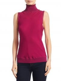 Theory - Bias Silk Top at Saks Fifth Avenue
