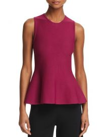Theory Classic Peplum Top at Bloomingdales
