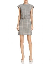 Theory Mod Belted Plaid Dress at Bloomingdales