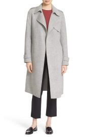 Theory Oaklane DF New Divid Wool & Cashmere Trench Coat at Nordstrom