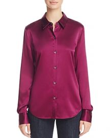 Theory Perfect Fitted Stretch Silk Shirt at Bloomingdales