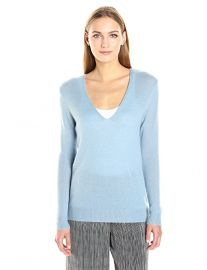 Theory Women s Adrianna Sweater Blue at Amazon
