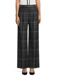 Theory - Adamaris Plaid Trousers at Saks Off 5th