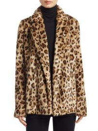 Theory - Clairene Leopard Print Faux Fur Coat at Saks Fifth Avenue
