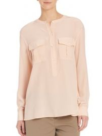 Theory - Damaris Silk Blouse at Saks Off 5th