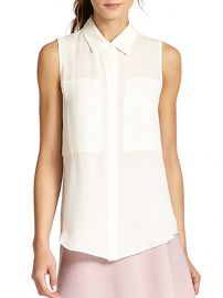 Theory - Duria Silk Sleeveless Blouse at Saks Fifth Avenue