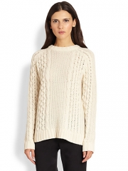 Theory - Innia Aria Cable-Knit Sweater at Saks Fifth Avenue