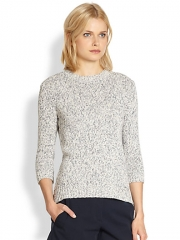 Theory - Rainee Terry Marled Sweater at Saks Fifth Avenue