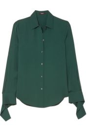 Theory   Silk-crepe shirt at Net A Porter