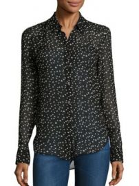 Theory - Sunaya NC Silk Star-Print Blouse at Saks Fifth Avenue
