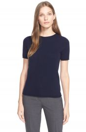 Theory  Tolleree  Short Sleeve Cashmere Pullover at Nordstrom