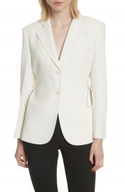 Theory Admiral Crepe Lace-Up Suit Jacket at Nordstrom