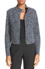 Theory Bavewick K Tweed Zip Front Jacket at Nordstrom