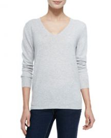 Theory Cashmere Wynn V-Neck Pullover Sweater at Neiman Marcus