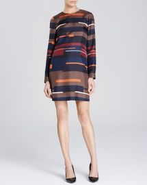 Theory Cepeda Silk Abstract Stripe Dress at Bloomingdales